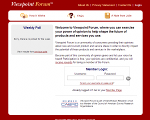 Viewpoint Forum Review - Legit cash paying survey site