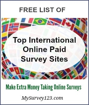International Free Paid Surveys List