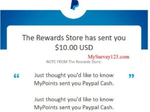 MyPoints Survey Cash Paypal